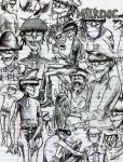 Murdoc Sketches by crackcat911
