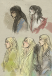 elves sketches by Mental-Lighton