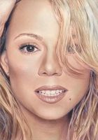 Mariah Carey Color 2 Drawing by riefra