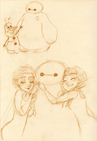 Baymax + Frozen by maybelletea