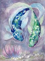 Blue and Green fish by shadrad