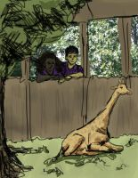Frank and Hazel at the Zoo Colors by daisyofthenight