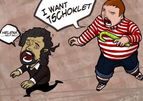 tim burton vs augustus gloop by vincent-grey