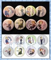 Avengers Button Set by Afterwinds