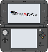 New Nintendo 3DS XL [Metallic Black] by BLUEamnesiac