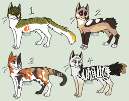 Cat designs 4 (TAKEN) by JocastaTheWeird
