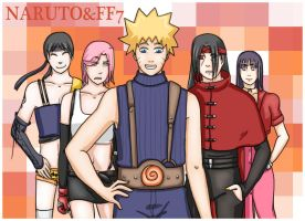Naruto+FF7: Cosplay Crossover by Houkakyou