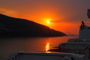 Sunset' Greece by AustrianPictures