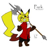Puck the Pikachu by 6WingDragon