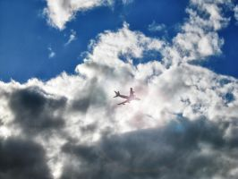 the sky, the plane by SwaEgo
