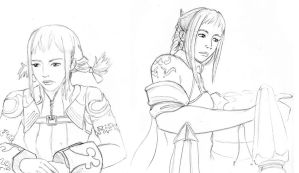 Penelo Sketches by AniseShaw