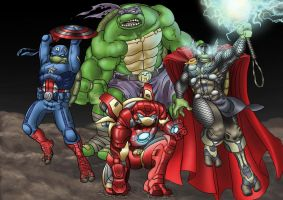 Avenger Turtles Assemble! by leonalmasy