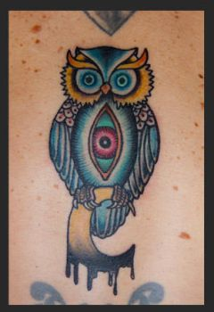 owl tattoo by Puku