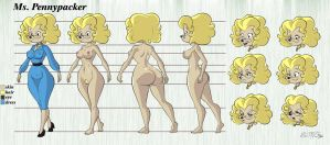Ms. Pennypacker Character Sheet Color by DarkVigilante