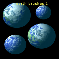 GIMP earth brushes 1 by feniksas4