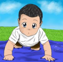Shepard as baby by Saka88Bln