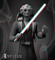 Kit Fisto (anaglyph) by aemiliuslives