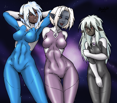 Space Drow by Shabazik