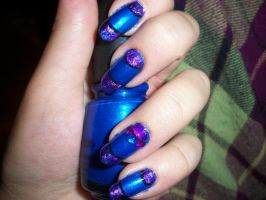 First Attempt at Nail Foils by QueenAliceOfAwesome