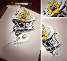 Skull sketch by Gionetti