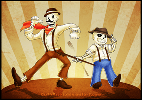 ElectroSwing - Papyrus and Sans by CutyAries
