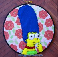 Marge Simpson Embroidery by iggystarpup