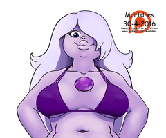 Amethyst swimsuit (realistic) by Mortdres