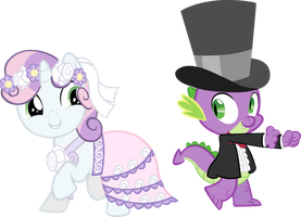 Spike and Sweety Belle by sapoltop