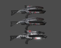 Mass Effect Rifles by Eudaimonium
