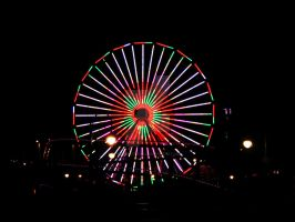 santa monica ferris wheel by RADIANTROSAS