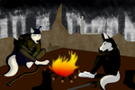 Camping In The Apocalypse (Art Trade with Awsassin by gangstaguru