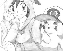 Ash And Pikachu by ImRocker