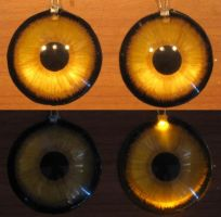 4cm led gold wolf eyes by Monoyasha