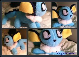 Chibi Vaporeon Plush by CeltysShadow