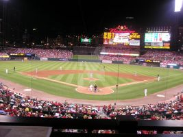 Cardinals Game at Night by bitsy-bee-33