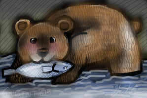 Bear eating a fish by GNGTNT105