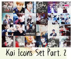 EXO Kai Icons Set Part. 2 by kamjong-kai
