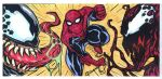 Venom Spiderman and Carnage 3 sketch card puzzle by mdavidct