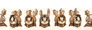 Character Design - Head Rotation (1st Attempt) by Cryptid-Creations