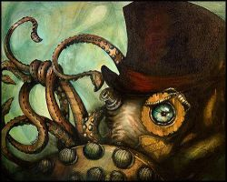 Steampunk Octopus by ToxicPretty