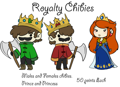 Royal Chibie Commision by MissBluebee