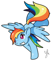 Rainbow Dash by Niekkk