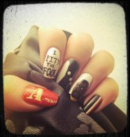 Nostalgia nails (and fun with post photo effects) by MistyPixelFan