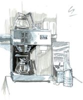 sketch dump 7 - coffee maker by KGBigelow