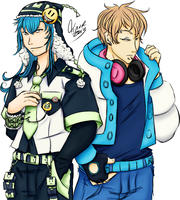 Aoba and Noiz Tenors Art Version 1 by Jaakus-Zugaikotsu