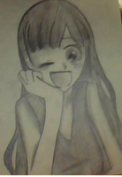 Happy Girl [Drawing for Zroses] by Lord-Momo