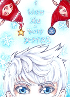 ACEO No. 22 ~ I wish you a frosty X-mas! by StrawberryJule