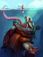 Tahm Kench, The River King by AthavanArt