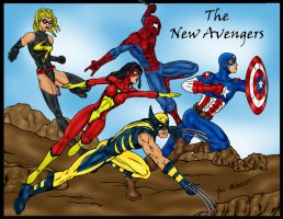 New Avengers Team by jmaturino