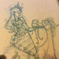 The mermaid and the serpent (work in progress)  by BrianKesinger